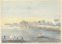 f.15a   'Cotton boats on the Ganges.'